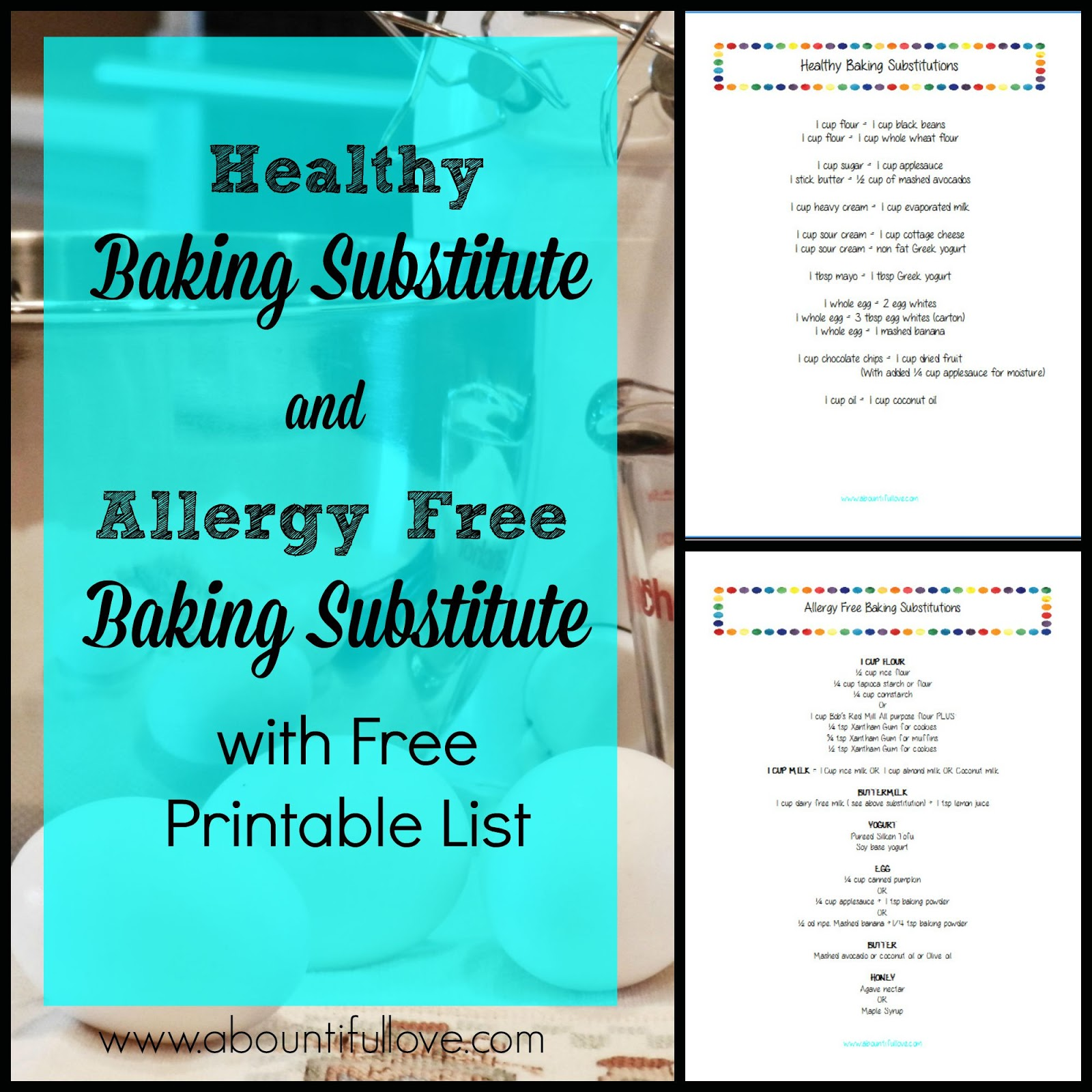 A Bountiful Love: Healthy and Allergy Free Baking Substitution