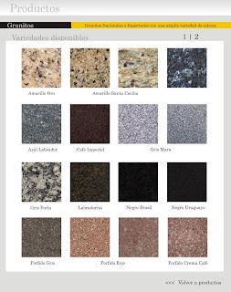 Marmoles y granitos variedad en colores en granitos - Colores de granito ...
