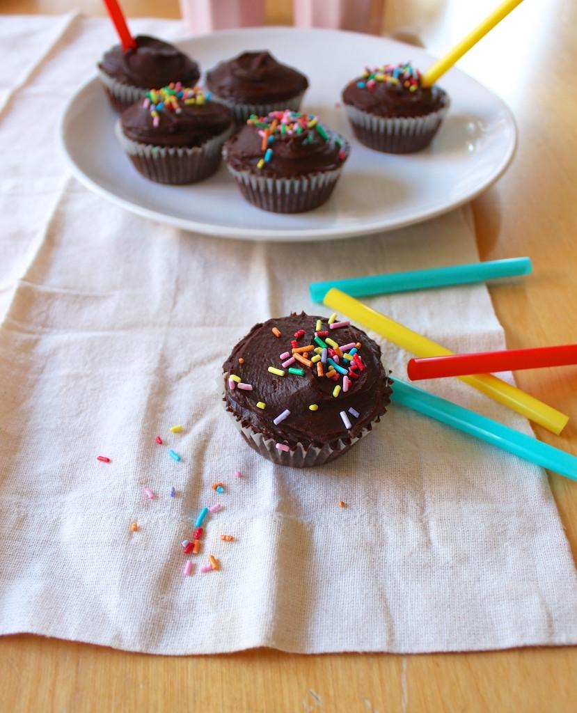 Pebre i xocolata: madalenas de chocolate con cobertura