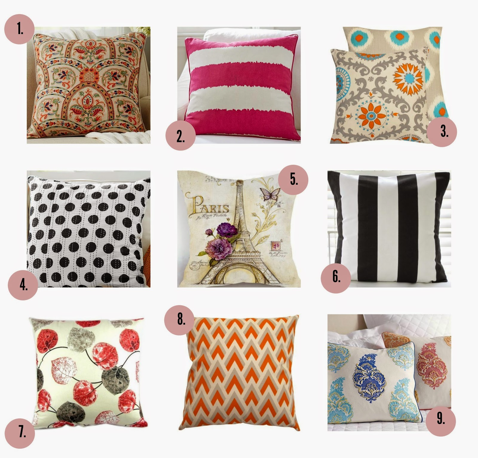 Pretty Spring Throw Pillow Covers