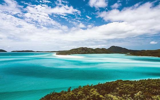 Aussichtspunkt Whitehaven Beach Australien