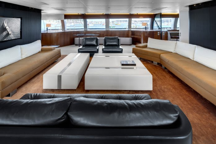 The Vertigo 220 Superyacht Has A Sophisticated Interior Designed By Christian Liaigre If It
