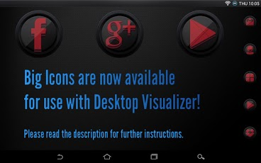 Icon Pack - 3D Black and Red apk