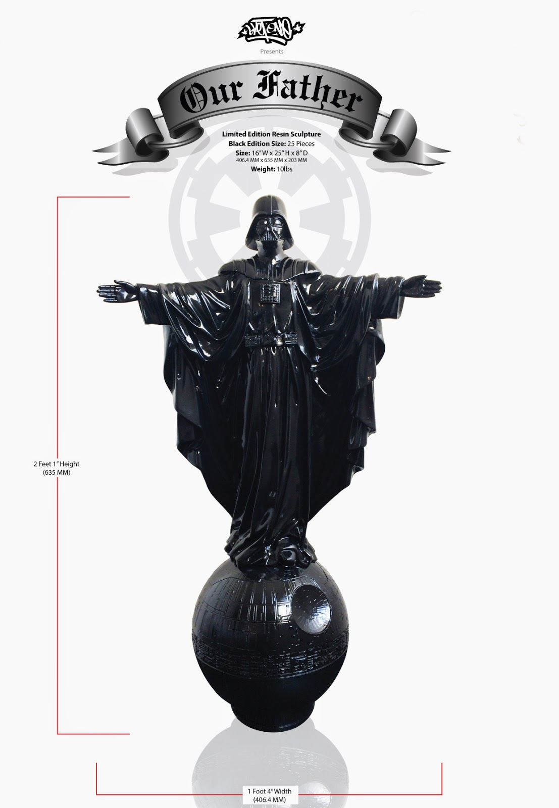 """Our Father"" Darth Vader Star Wars Resin Statue by Sket One"