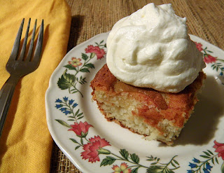 Plate of Apple cake with Whipped Cream