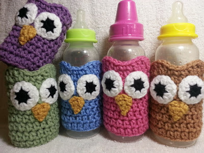 Owl Baby Bottle Sleeves