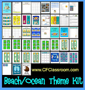 45 Page Beach~Tropical~Ocean Themed Classroom Kit is now available in my .