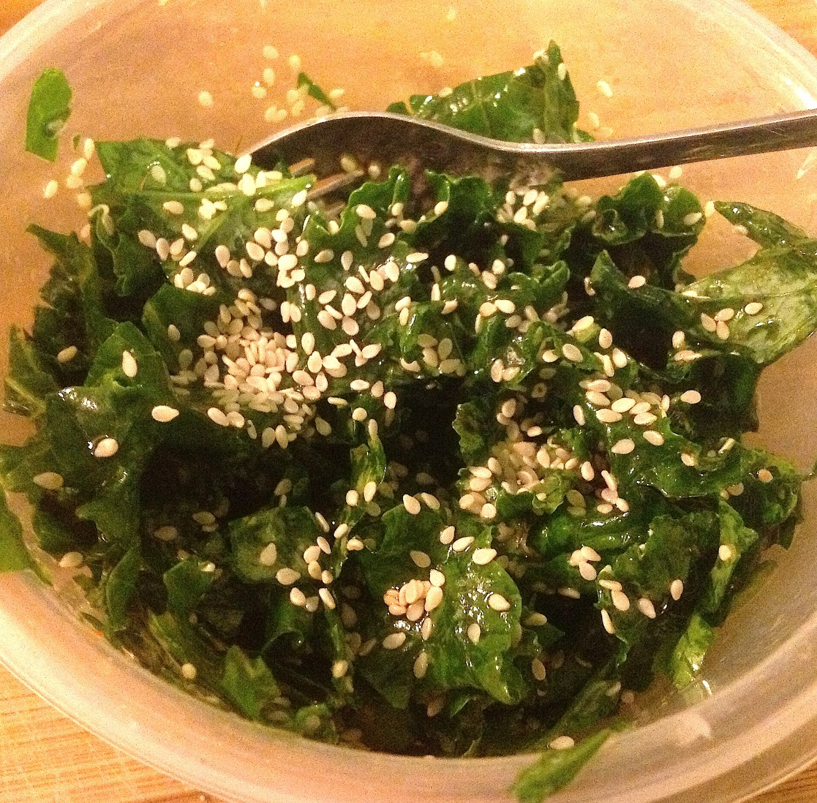... Plantry Raid: Easiest Kale Recipe Ever!.....Raw Sesame Kale Salad