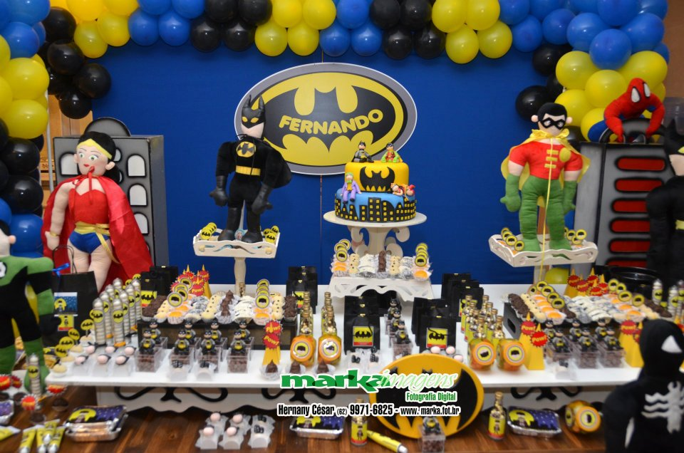 decoracao festa batman : decoracao festa batman:Festa Batman