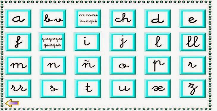 Para trabajar con el abecedario