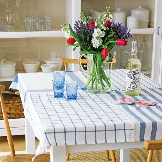 Mantel para la mesa de cocina decorar tu casa es - Ideas para hacer manteles ...