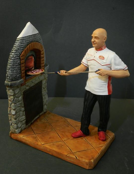 statuina personalizzata pizzaiolo forno trullo statuetta presepe orme magiche