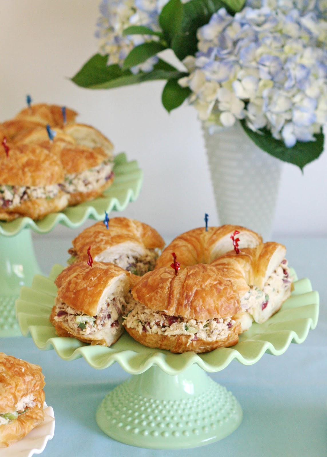 finger sandwichesfor baby shower often make these chicken salad