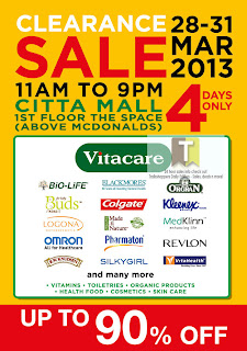 VITACARE Clearance Sale 2013