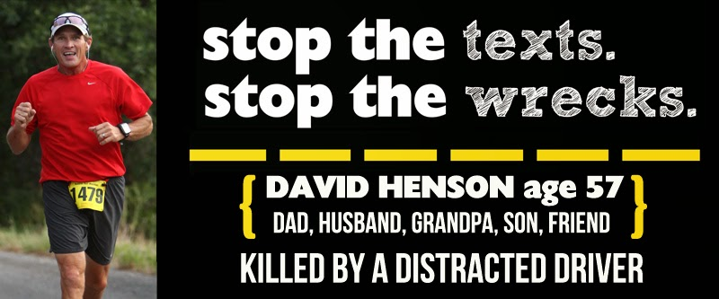 Stop the Texts,  Stop the Wrecks.. Don't Drive Distracted!!