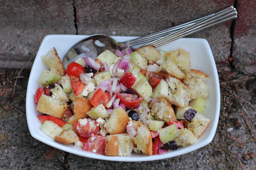 A less processed life what 39 s on the side greek Barefoot contessa panzanella