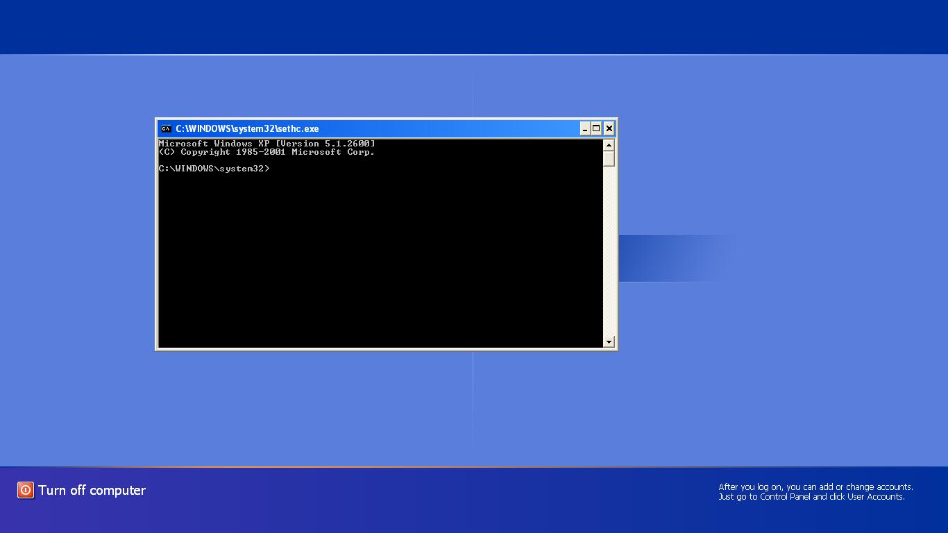 how to start narrator login screen windows xp