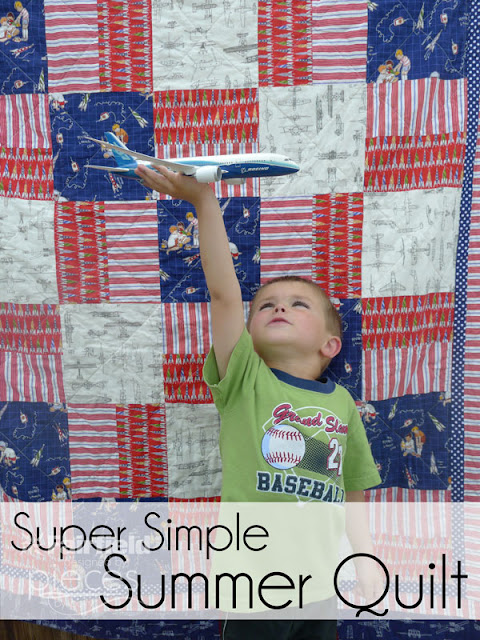 Super Simple Summer Throw Quilt - Red, White, and Blue in Sarah Jane ...
