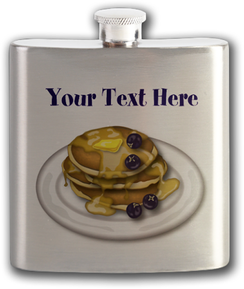 Black Friday Sale - Sold! Pancakes With Syrup And Blueberries Flask