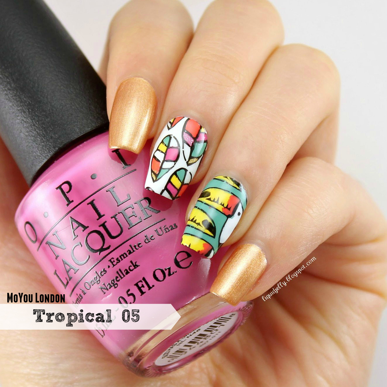 Liquid Jelly: [Nail Art] MoYou London Tropical 05