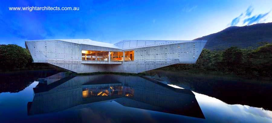Casa contemporánea en Australia inspirada en el Brutalismo