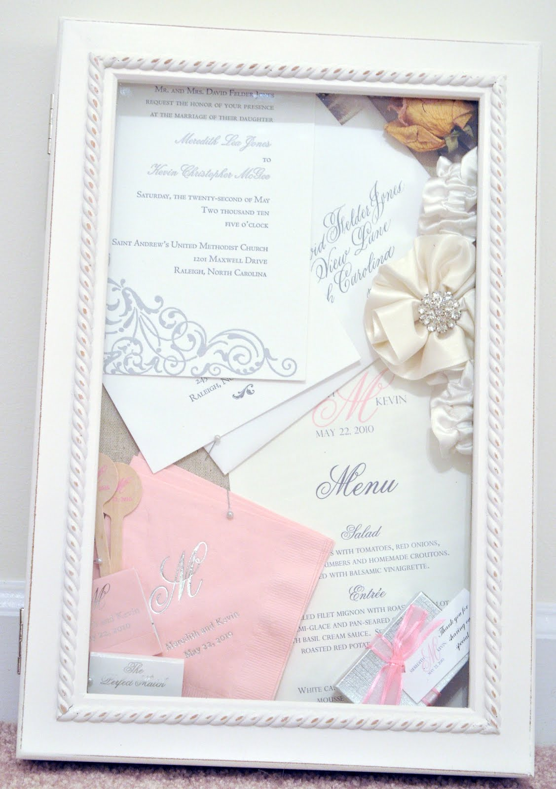 Soon to be McGee: Wedding Shadow Box