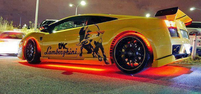 Car \u0026 Bike Fanatics Tuned Lamborghini Gallardo with Neon lights