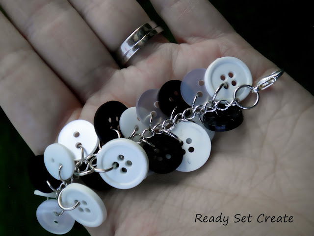 jewelry making: button bracelet tutorial