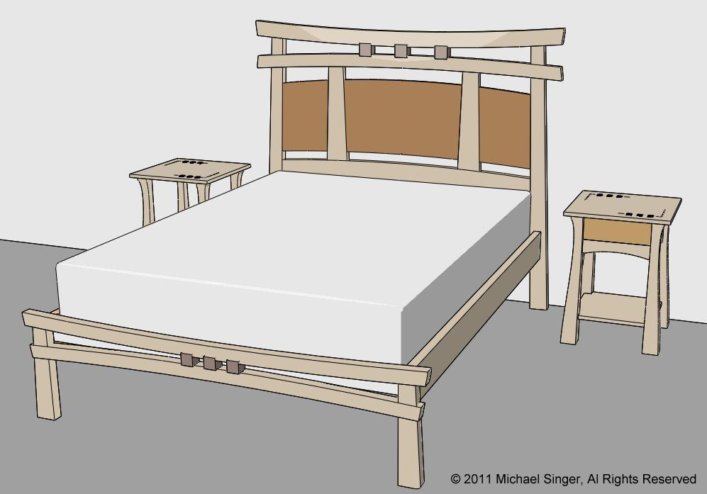 Michael Singer Fine Woodworking An Asian Inspired Bed