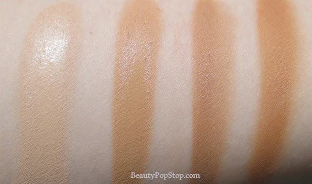 mac pro longwear nourishing waterproof foundation swatches NC15, NC30, NC35, NC42