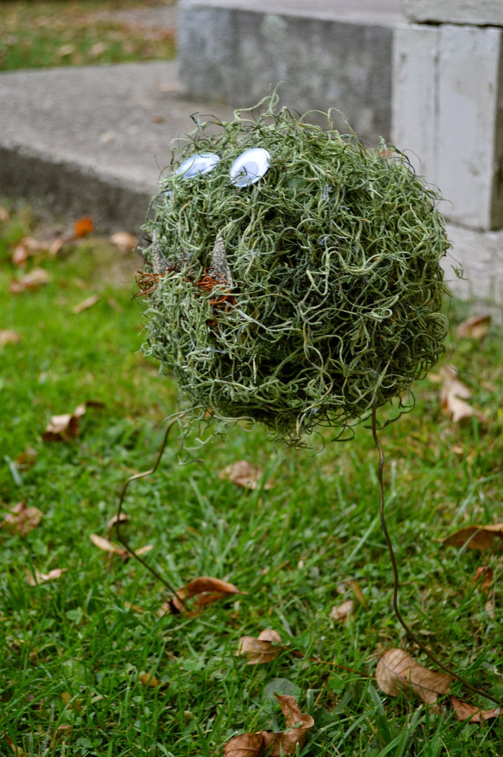 Marvelously Messy A Halloween Moss Monster Craft
