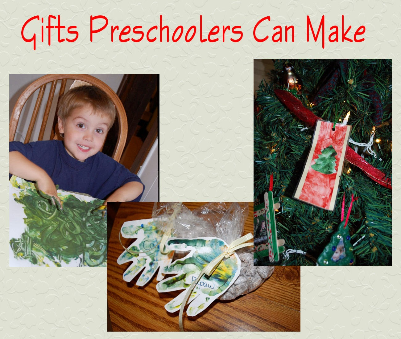 Leading them to the rock christmas gifts preschoolers for Gifts u can make