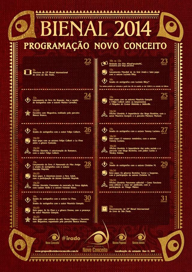 Programação da Bienal de São Paulo - Editora Novo Conceito