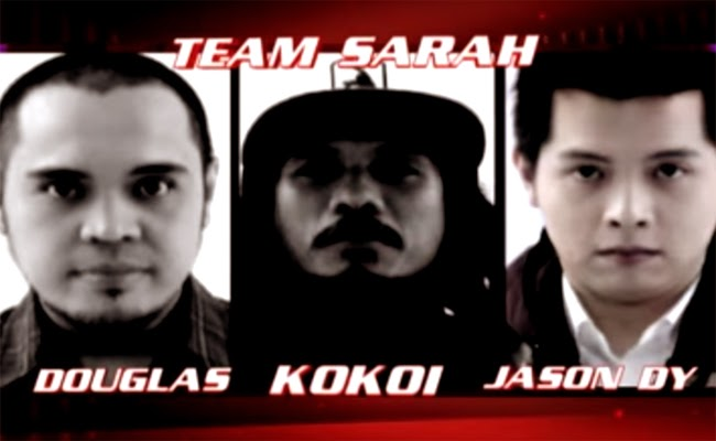 Watch The Performance of Jason Dy, Douglas Dagal and Kokoi of The Voice of the Philippines Season 2 Team Sarah