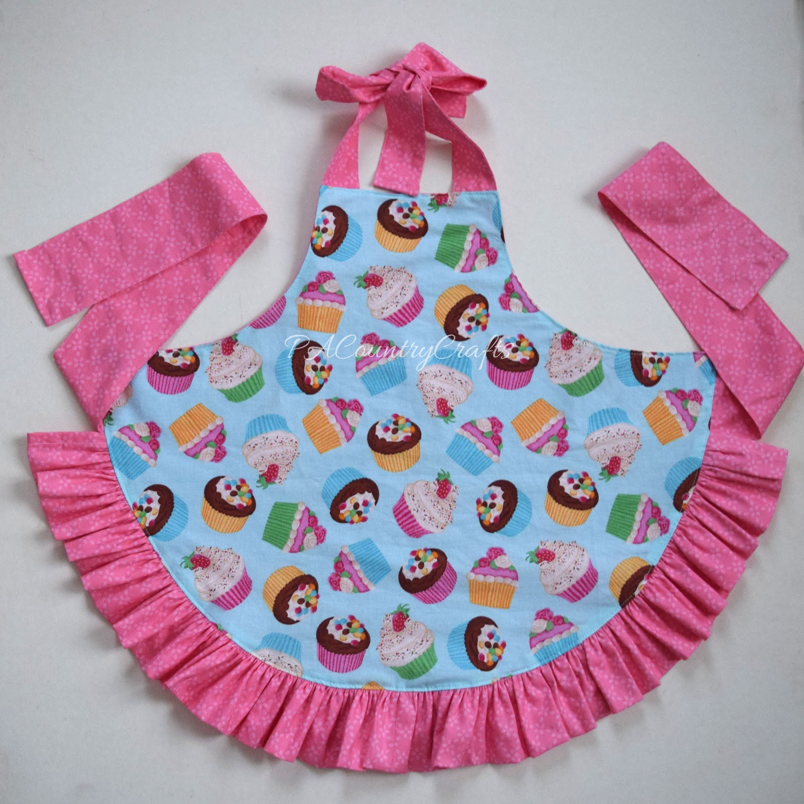 Girls Ruffle Apron Pattern and Tutorial | PA Country Crafts
