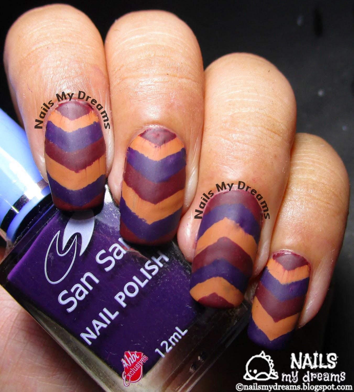 Nails My Dreams: HPB Presents: Fall Inspired Chevron Nail Art!..