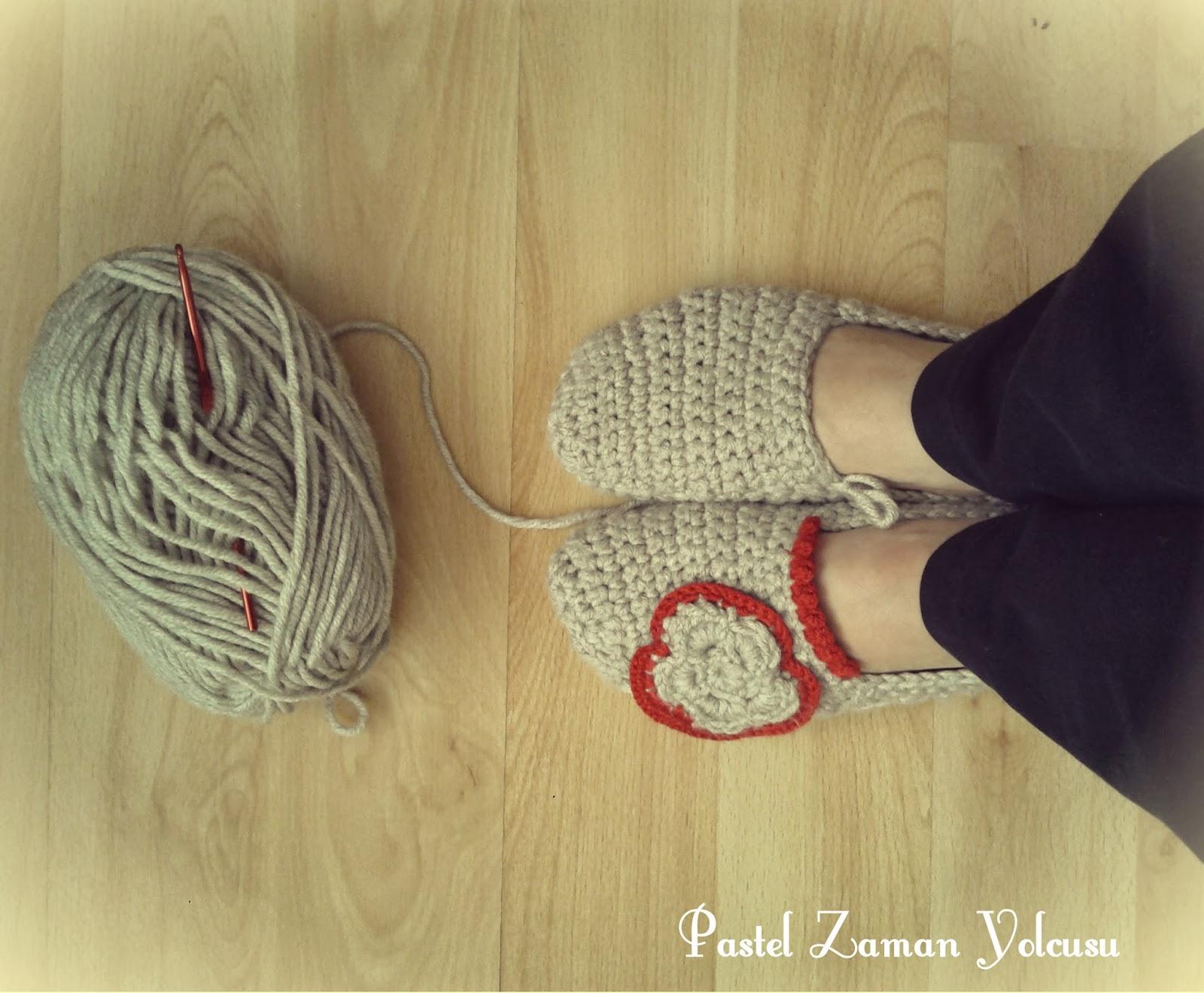 Tığ İşi Patik, Crochet Slippers