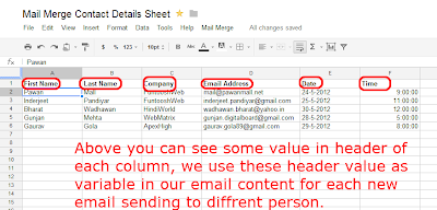 Steps 16 - Use Pre-Defined Variables in Spreadsheet as Column Name
