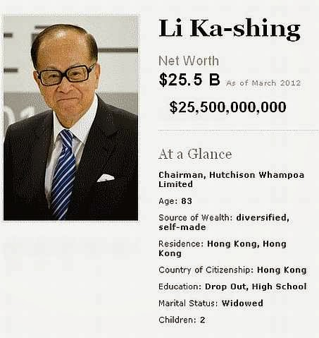 Pundi-Pundi Kekayaan Li Ka Shing