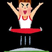 オリンピックのイラスト「トランポリン」