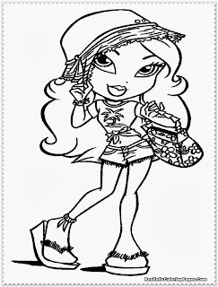 bratz princess coloring pages