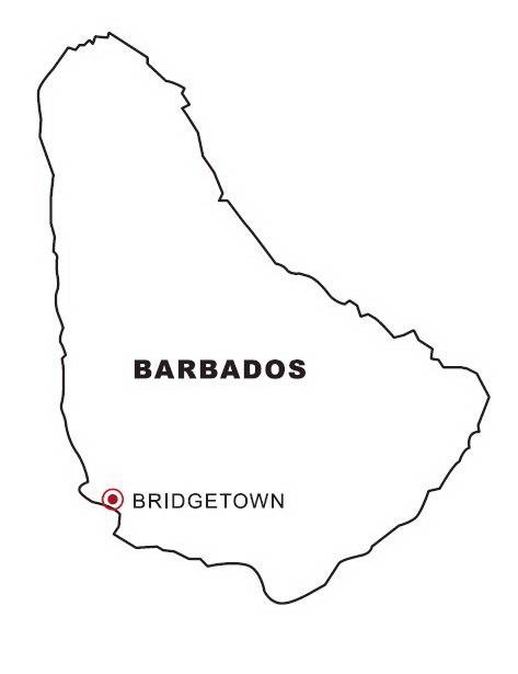 Barbados flag coloring page guatemala flag coloring page for Barbados flag coloring page