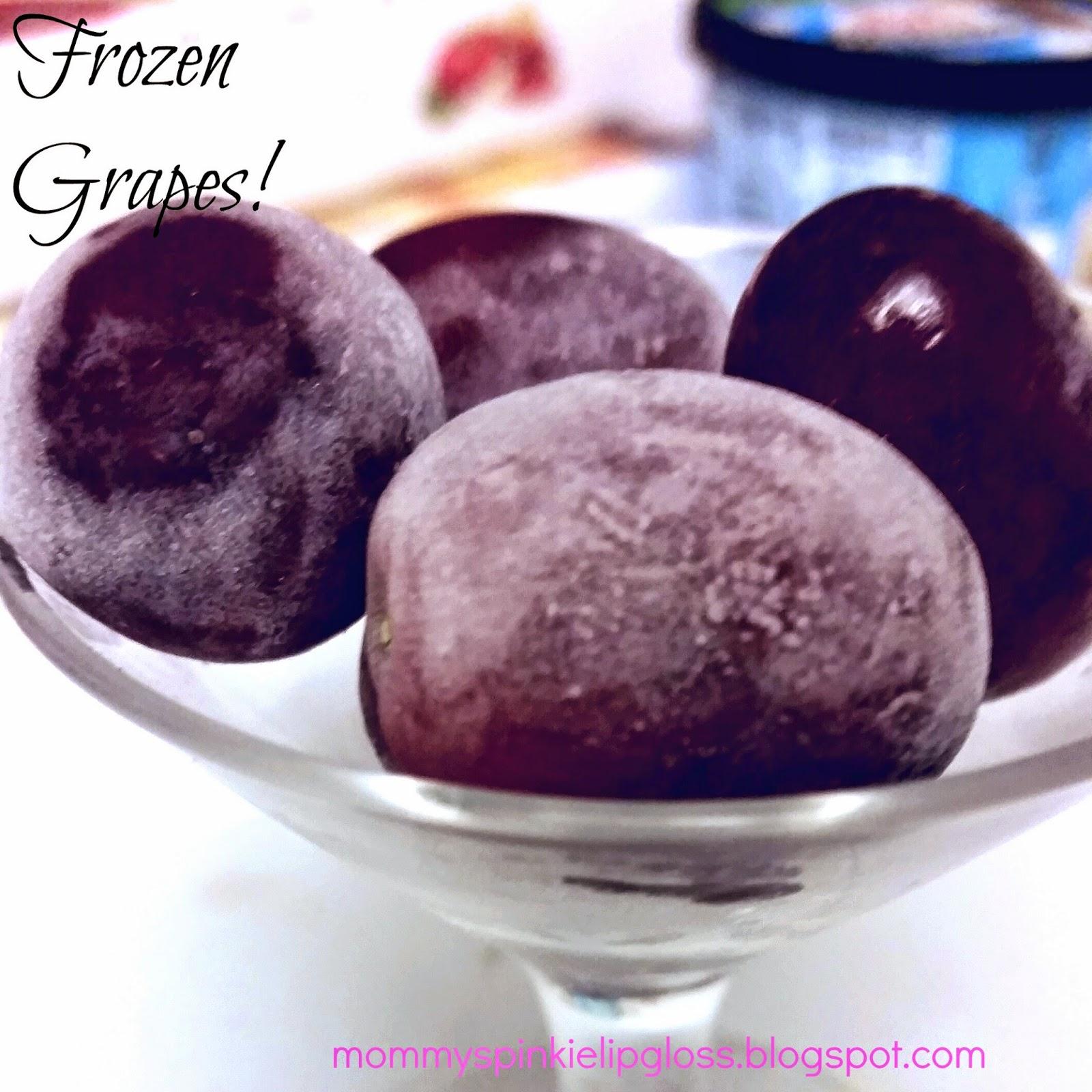 frozen grape recipe from MommysPinkieLipgloss.blogspot.com