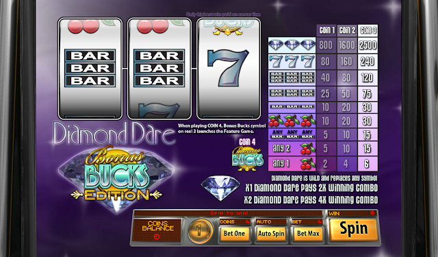 Diamond Dare Bonus Bucks Game