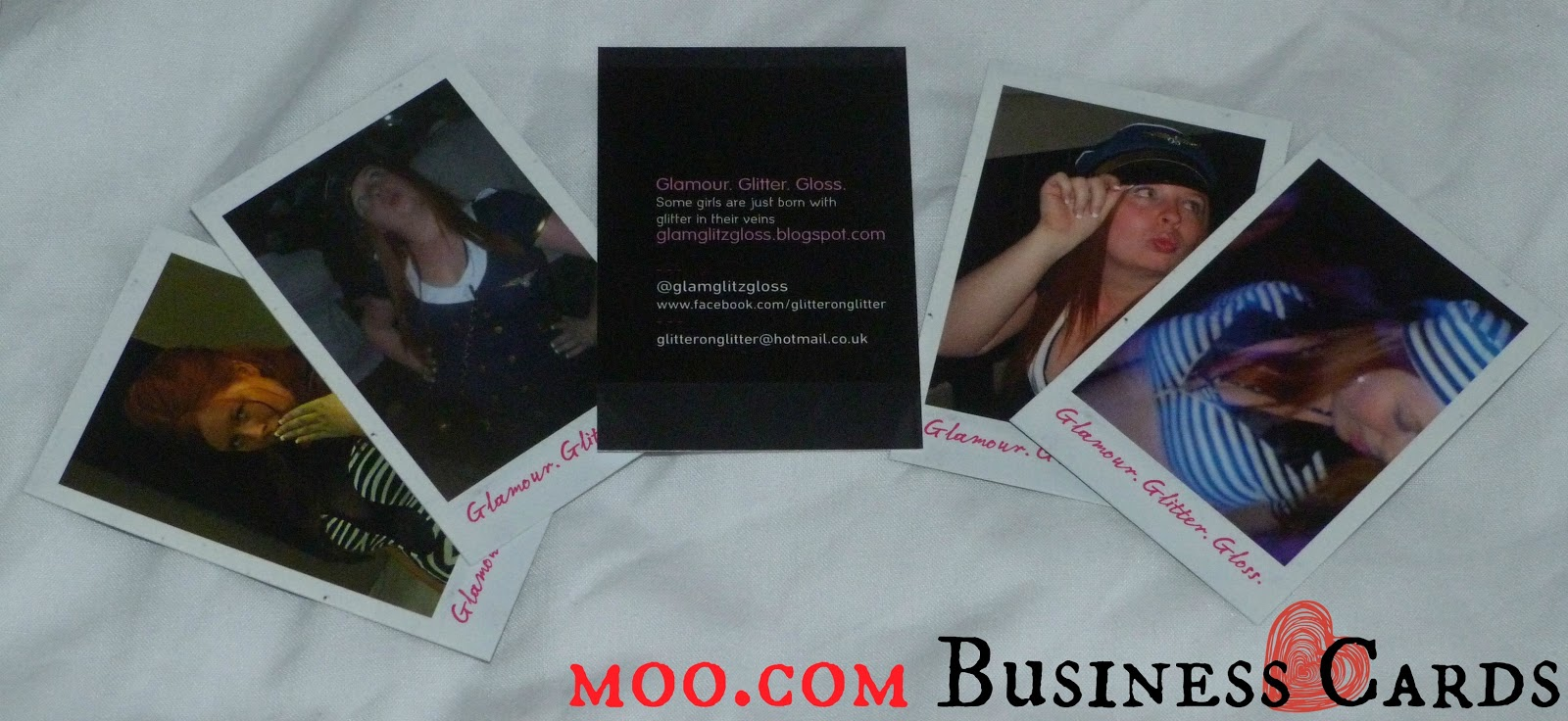 The Geek Moo Business Cards by Glamour Glitter Gloss