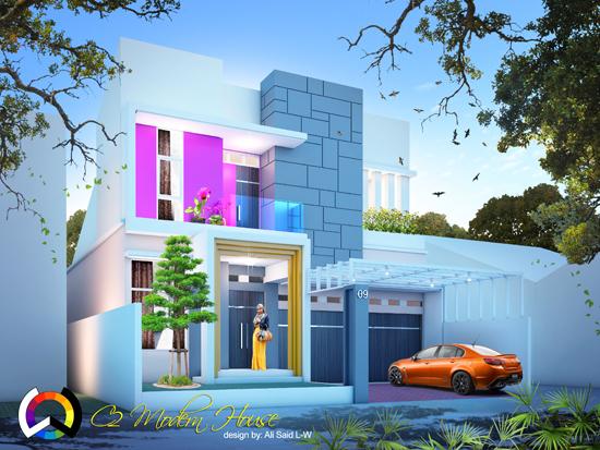 List daftar desain rumah minimalis modern terbaru 1000 for Modern house 6 part 2