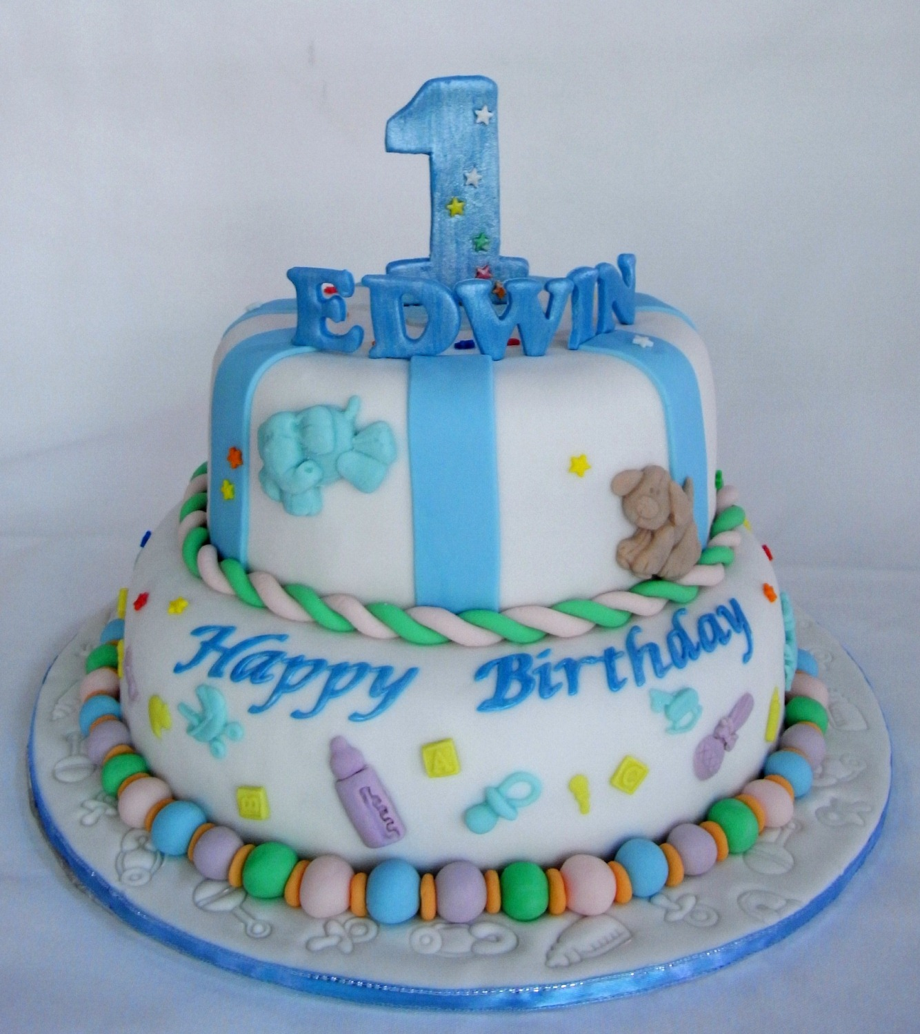 Bearylicious Cakes: Colorful 1st Birthday Cake