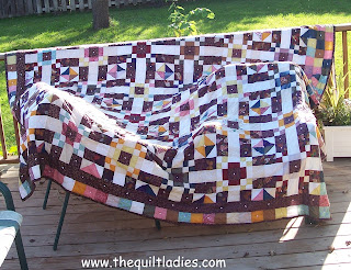 Quilt on the deck to dry