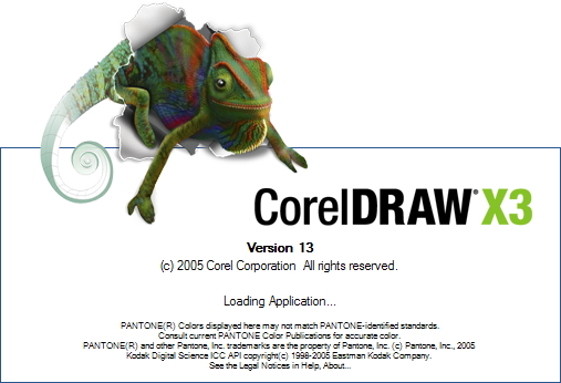 CorelDraw 13.0 atau CorelDraw X3