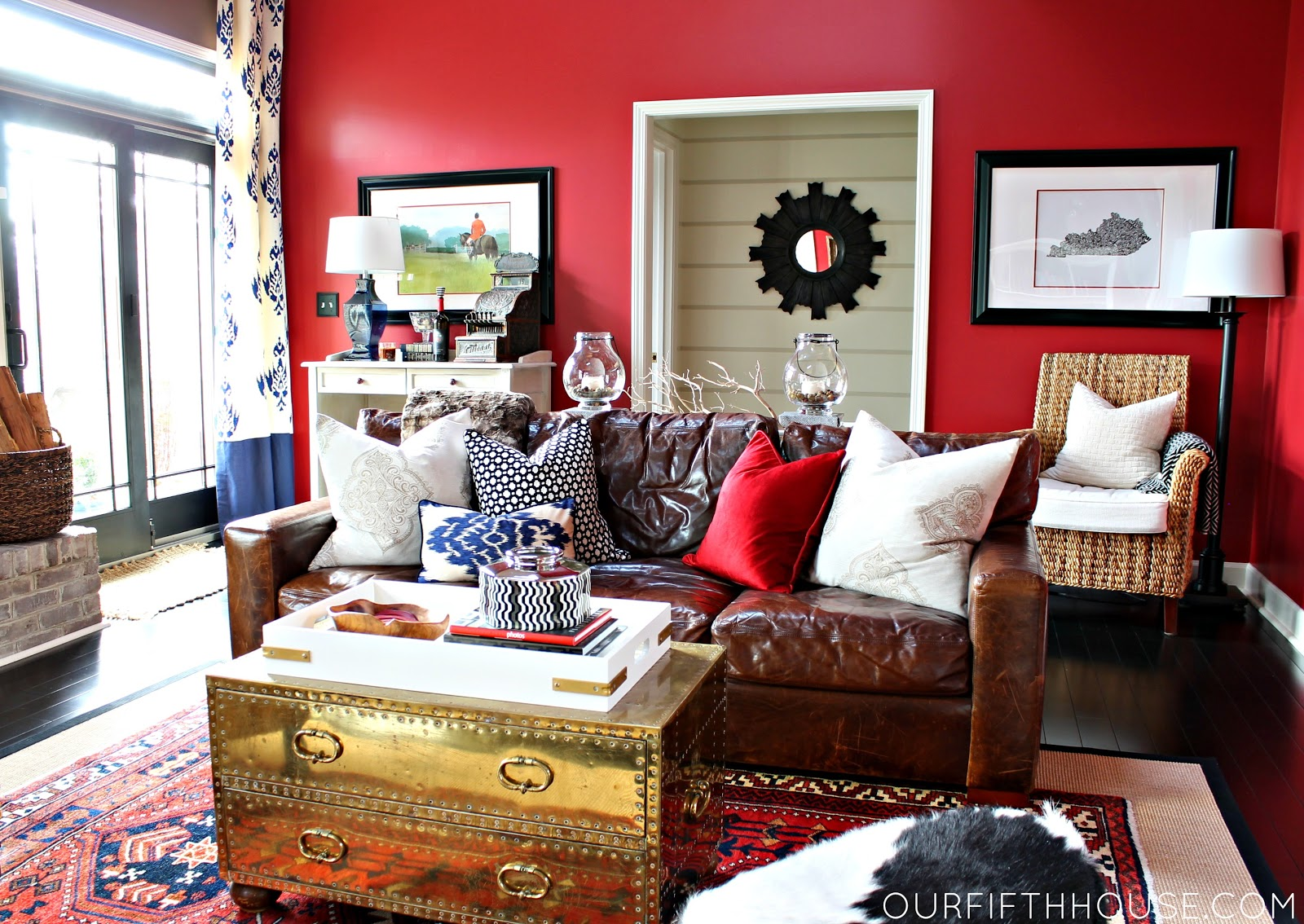 Our fifth house design thoughts why not a bold wall color for Red and brown walls